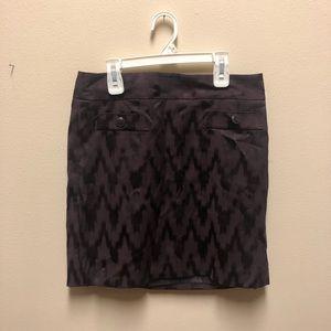 Purple Chevron Skirt